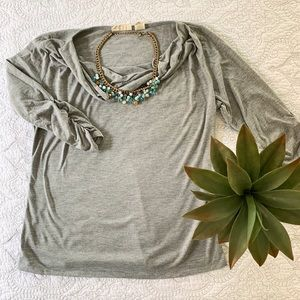 ALLISON BRITTNEY || Grey 3/4 sleeve shirt